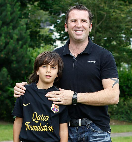 Zak with his father Stephen