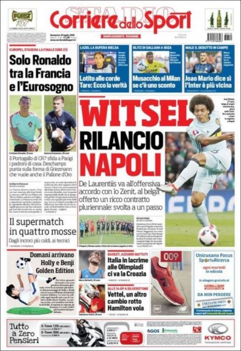 EURO2016 finali sonrasında dünya basınından manşetler