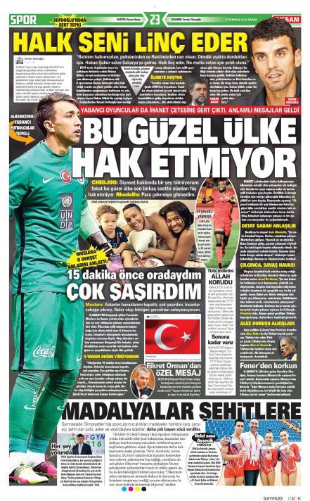 Gazete manşetleri (17 Temmuz)