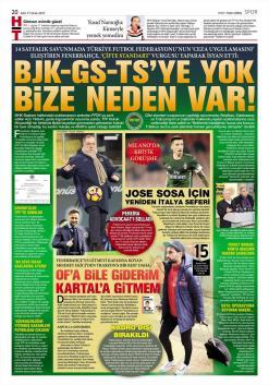 Fenerbahçe Gazete Manşet (17 Ocak)