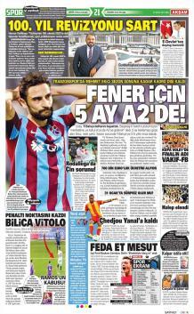 Trabzonspor Gazete Manşet (17 Ocak)
