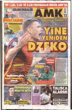 Galatasaray Gazete manşet (18 Ocak)