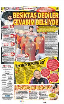 Galatasaray gazete manşetleri - 20 Ocak