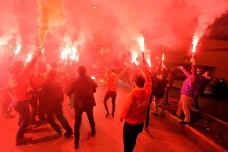 Galatasaray'a Karabük'te coşkulu karşılama