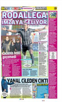 Trabzonspor gazete manşetleri - 20 Ocak