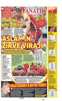 Galatasaray gazete manşetleri - 21 Ocak