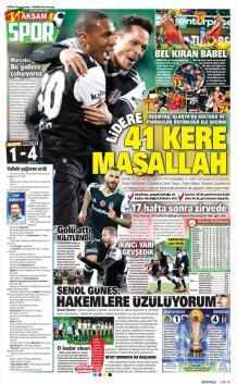 Beşiktaş gazete manşetleri - 24 Ocak