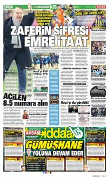 Fenerbahçe gazete manşetleri - 24 Ocak