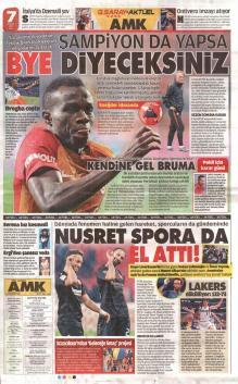 Galatasaray gazete manşetleri - 24 Ocak