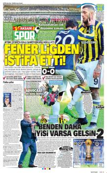 Fenerbahçe Gazete Manşet (20 Şubat)