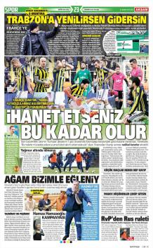 Fenerbahçe Gazete Manşet (21 Şubat)