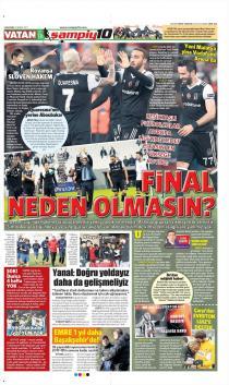 Beşiktaş Gazete Manşet (22 Şubat)