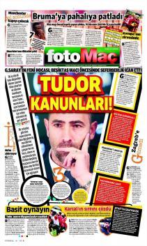 Galatasaray Gazete Manşet (22 Şubat)