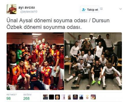 Galatasaray taraftarının derbi sonrası 15 tepkisi
