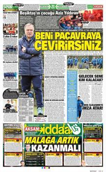 Fenerbahçe gazete manşetleri - 28 Şubat