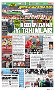 Galatasaray gazete manşetleri - 28 Şubat