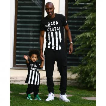 Beşiktaş'ın reklam yüzü; Atiba'nın oğlu Noah