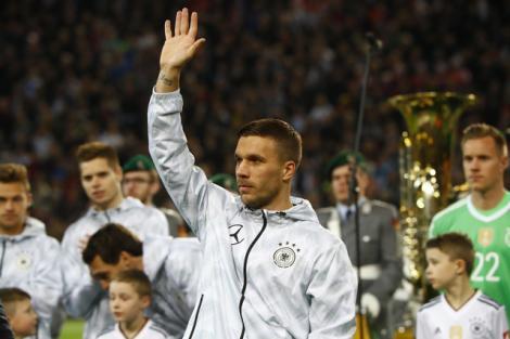 Lukas Podolski, milli takıma veda etti