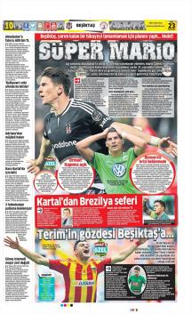 Beşiktaş Gazete Manşet (23 Mart)