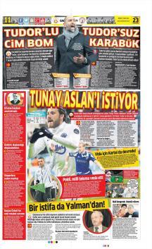 Galatasaray Gazete Manşet (23 Mart)