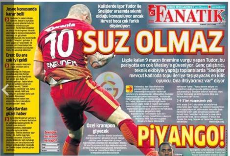 Galatasaray Gazete Manşet (24 Mart)