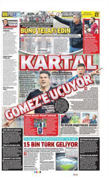 Beşiktaş Gazete Manşet (27 Mart)