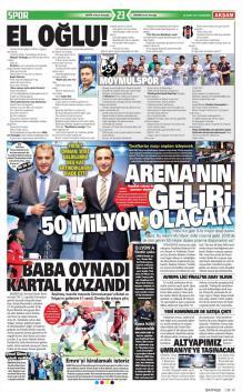 Beşiktaş Gazete Manşet (29 Mart)