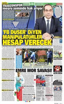Fenerbahçe Gazete Manşet (29 Mart)