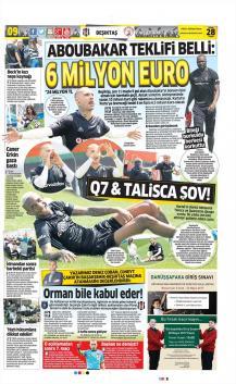 Beşiktaş gazete manşetleri - 28 Nisan