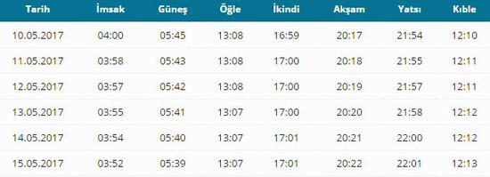 Istanbul yatsı namaz saati