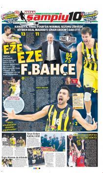 Fenerbahçe Gazete Manşet (20 Mayıs)