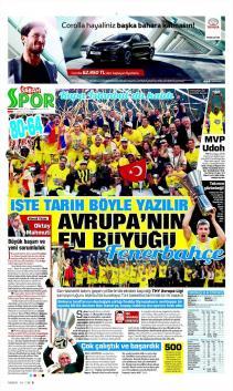 Fenerbahçe'nin şampiyonluğu manşetlerde!