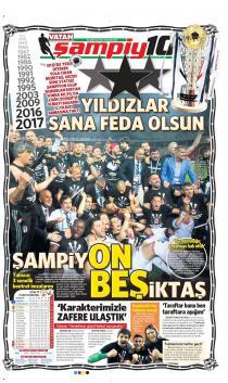 Beşiktaş'ın şampiyonluk manşetleri!