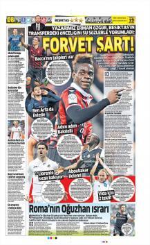 Beşiktaş Gazete Manşet (19 Haziran)