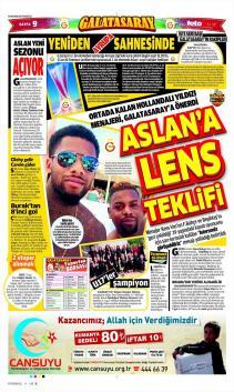 G.Saray Gazete Manşet (19 Haziran)