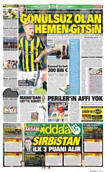 Gazete manşetleri - 20 Haziran