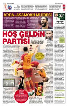 Galatasaray Gazete Manşet (15 Ağustos)