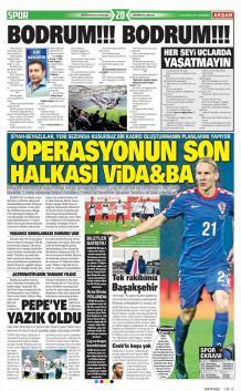 Beşiktaş gazete manşetleri - 16 Ağustos