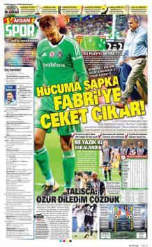 Beşiktaş Gazete Manşet (19 Ağustos)