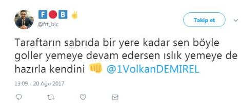 Sosyal medyada Volkan Demirel tepkileri!