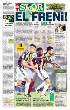 Fenerbahçe Gazete Manşet (21 Ağustos)