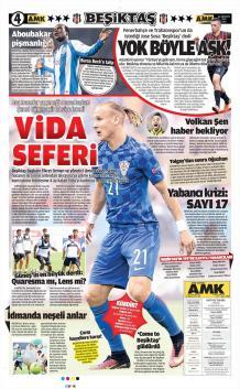 Beşiktaş Gazete Manşet (22 Ağustos)