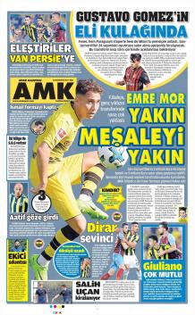 Fenerbahçe Gazete Manşet (22 Ağustos)