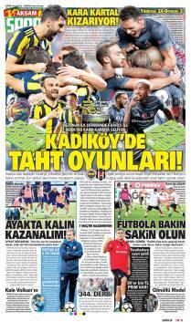 Beşiktaş gazete manşetleri - 23 Eylül