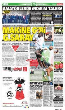 Galatasaray gazete manşetleri - 23 Eylül