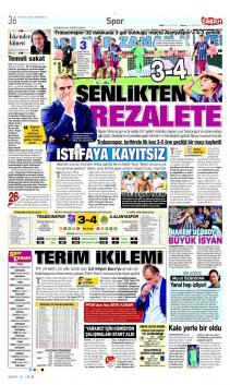 Trabzonspor gazete manşetleri - 23 Eylül