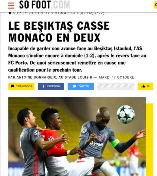 Dış basında Beşiktaş zaferinin manşetleri!
