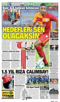Galatasaray gazete manşetleri - 18 Ekim