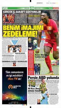 Galatasaray gazete manşetleri - 11 Aralık