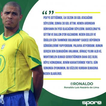 Ronaldo unutulmaz başarılara imza attığı kariyerini anlattı
